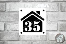 Huisnummerbordje huis