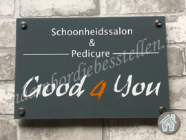 Bedrijfs naambordje Good 4 You