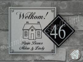 Naambordje huis met huisnummer