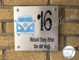 Naambord met Volkswagen transporter T1