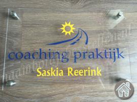 Bedrijfs naambordje Coaching praktijk Saskia Reerink