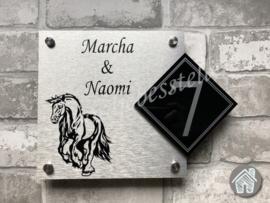 Naambordje met Paard