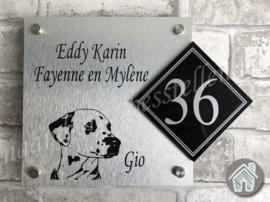 Naambordje hond Dalmatiër