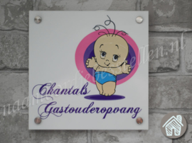 Bedrijfs naambordje Chantals Gastouderopvang