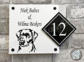 Naambordje hond Labrador