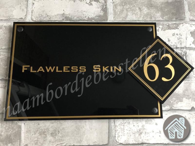 Bedrijfs naambordje Flawless skin
