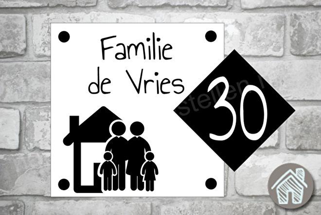 Naambordje huis familie