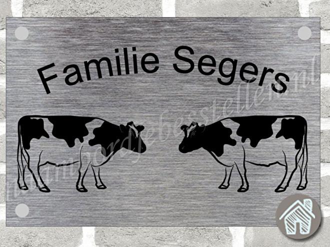 naambordje met koeien