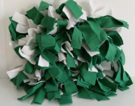 Snuffelmat wit/groen.