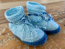Babyslofjes petrol blauw