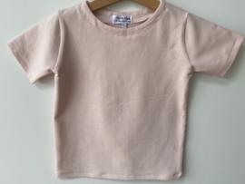 Katoenen stretch  T-shirt roze