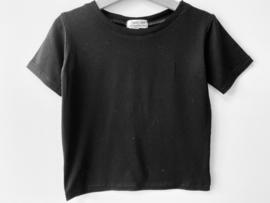 Bi-stretch  T-shirt zwart