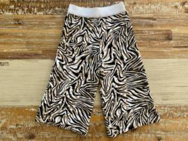 Wijd broekje Zebra taupe