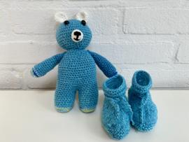 Newborn cadeauset knuffelbeertje met slofjes