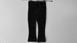 Flared broekje zwart witte streepjes