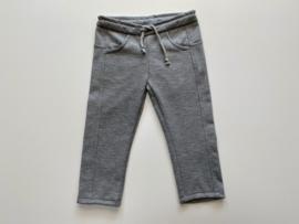 Tricot rechte broek grijs met stiksel