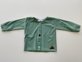 Vestje Tricot/stretch groen maat 86/92