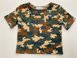 Tricot stretch  T-shirt camouflage