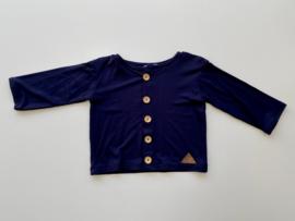 Vestje Tricot/stretch donkerblauw maat 86/92