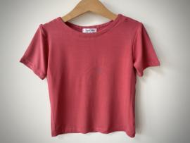 Bi-stretch  T-shirt coral