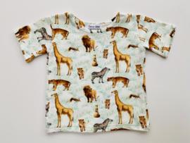 Tricot stretch  T-shirt safari