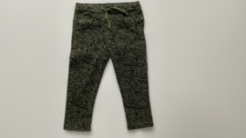 Tricot stretch peuterbroekje  kleuterbroekje groen zwart