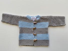 Jas/vestje grijs blauw maat 50/56