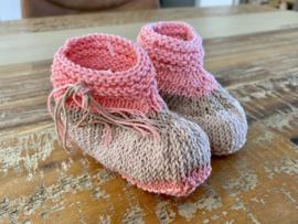 Babyslofjes roze beige