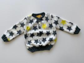 Fleece jasje sterren met gebreide boorden