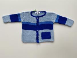 Babyvestje / peutervestje blauw, gebreid