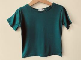 Bi-stretch  T-shirt petrol