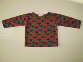 Tricot/stretch shirtje multicolor