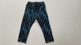 Skinny peuterbroekje skinny kleuterbroekje zwart/blauw