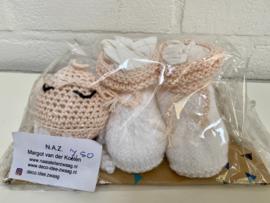 Newborn cadeauset slofjes en inktvisje