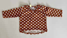 Tricot/stretch shirtje brique met poesjes