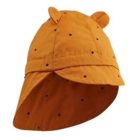 Liewood | Gorm Sun Hat | Classic Dot Mustard