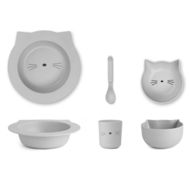 Liewood | Barbara Bamboo Baby Set | Cat | Dumbo grey