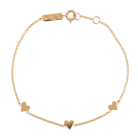 Lennebelle | You are loved bracelet gold plated mother