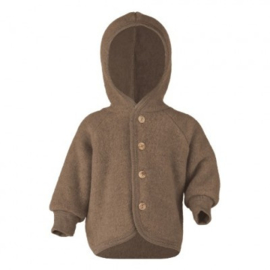 Engel Natur | Hooded Jacket | Walnut melange