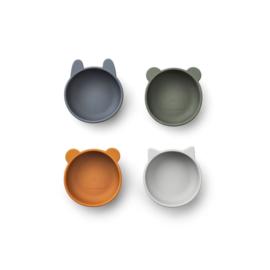 Liewood | Iggy Silicone Bowls | Blue mix
