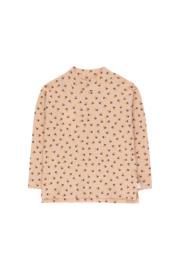 Tiny Cottons | Tiny Flowers Mockneck Tee | Light Nude - Navy