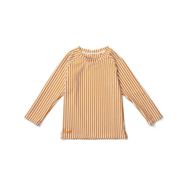 Liewood | Noah Swim Tee Seersucker | Stripe Mustard -  White