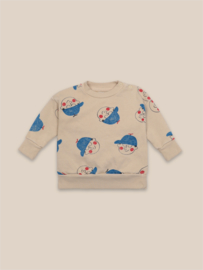 BoboChoses | Boys All Over Sweatshirt | Brown Rice