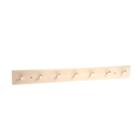 Coconeh | Wooden Birch Wall Rack | 7 Hooks