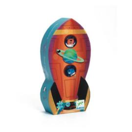 Djeco | Silhouette Puzzle | Spaceship | 16 stuks