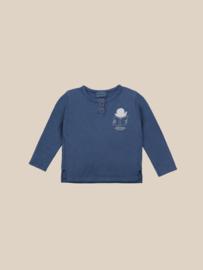 BoboChoses | Translator Buttoned T-Shirt | Blue Indigo