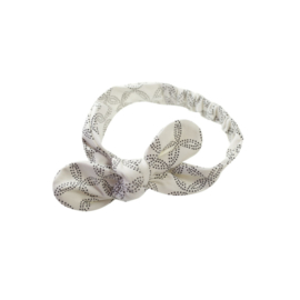 Mies & Co | Hair Ribbon Geo Circles | Offwhite