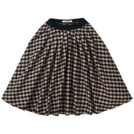 Mingo | Flannel Checked Midi Skirt | Caramel / Black