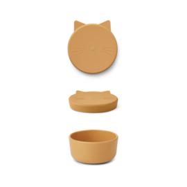 Liewood | Cornelius Snack Box | Cat | Yellow Mellow