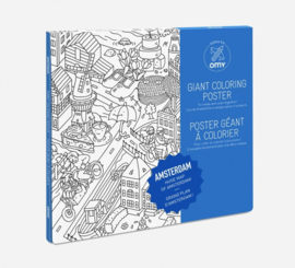 OMY | Giant Coloring Poster | Amsterdam